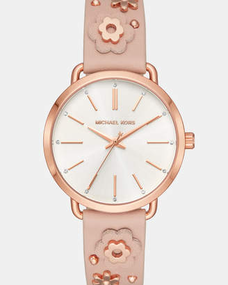 Michael Kors Portia Pink Analogue Watch