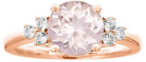 Premier 1.90cttw Morganite & 1/5cttw Diamond Ring, 14K