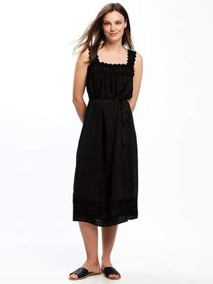 Lace-Yoke Tie-Waist Dress for Women $44.94 thestylecure.com