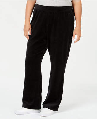 Karen Scott Plus-Size Velour Pull-On Pants