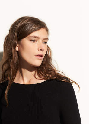 Vince Directional Rib Cashmere Pullover