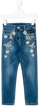 MonnaLisa pearl embellished jeans