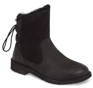 UGG Naiyah Lace-Back Genuine Shearling Boot