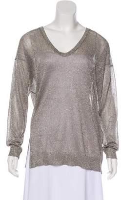 Vince Semi-Sheer Metallic Sweater