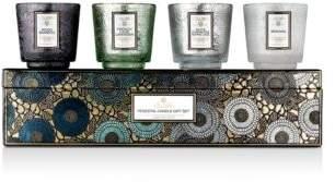 Voluspa Cool Tones 4-Piece Pedestal Candles Gift Set