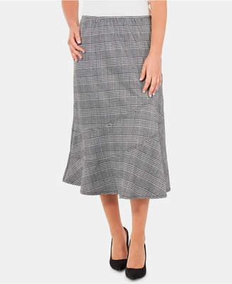 NY Collection Plaid Diagonal-Seam A-Line Skirt