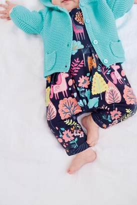 Next Girls Turquoise Hooded Cardigan (0mths-2yrs)