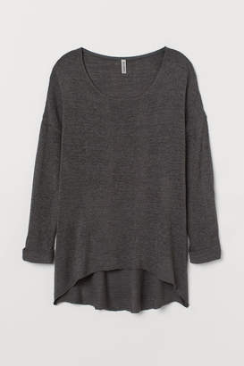 H&M H&M+ Loose-knit Sweater - Gray