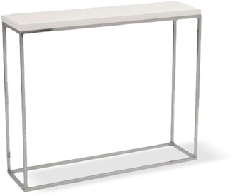 Apt2B Kings Road Console Table WHITE/CHROME