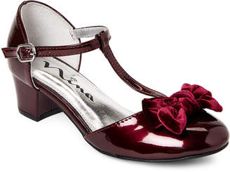 Nina Kids Girls) Burgundy Almira T-Strap Dress Shoes