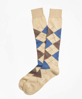 Brooks Brothers Cotton Argyle Over-the-Calf Socks