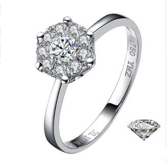 GOWE 18k gold diamond ring wedding propose women female girl gift 1CT 2CT 3CT Luxury Group inlay genuine new Large size Customization