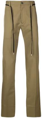 Lanvin belted chino trousers