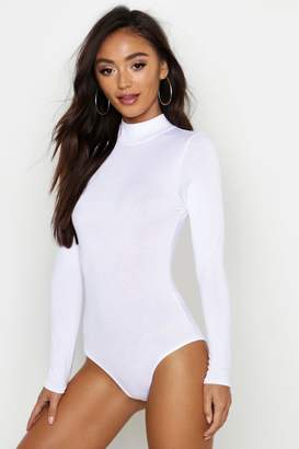 boohoo Petite Turtle Neck Long Sleeve Bodysuit