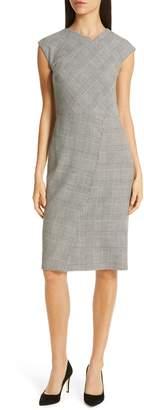 BOSS Dechesta Glen Plaid Sheath Dress
