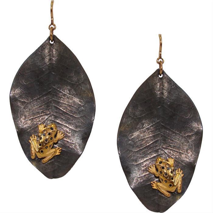 Vermeil Frog Earrings by Uzca