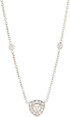 Penny Preville 18k Trillion-Cut Diamond Pendant Necklace