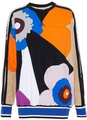 NO KA 'OI Paneled Embellished Color-Block Cotton-Blend Terry Sweatshirt