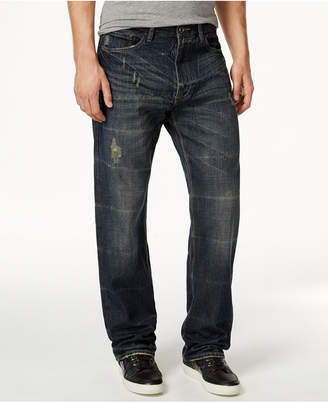 Sean John Men's Patch-Pocket Hamilton Relaxed Fit, Destructed Jeans, Only at Macy's $69.50 thestylecure.com