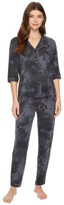 Donna Karan 3/4 Sleeve PJ Set Women's Pajama Sets
