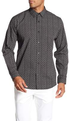 Theory Geo Print Clasic Fit Long Sleeve Shirt