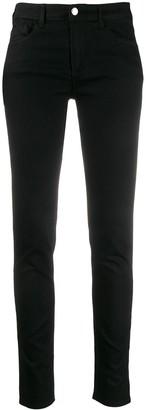 Emporio Armani logo patch low-rise skinny jeans