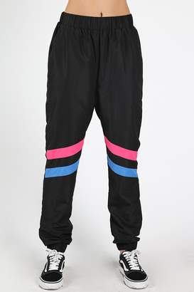 Honey Punch Black Windbreaker Pants