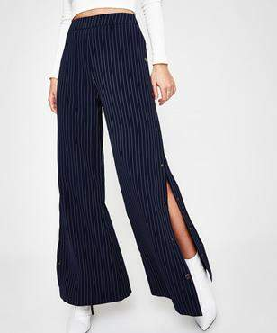 Alice In The Eve Margot Stripe Tearaway Pant Navy