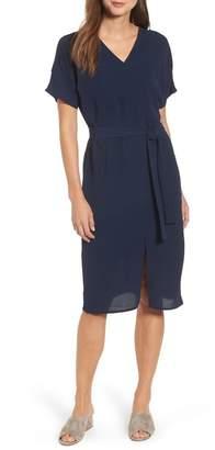 Bobeau Stretch Crepe Dress (Regular & Petite)