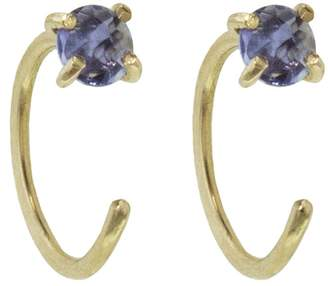 Melissa Joy Manning Iolite Hug Earrings - Yellow Gold