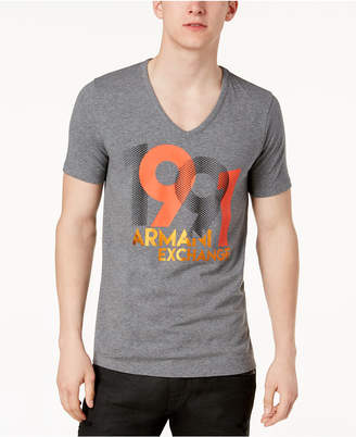 Armani Exchange Men's Slim-Fit V-Neck Stretch T-Shirt