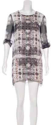 Theyskens' Theory Printed Silk Mini Dress