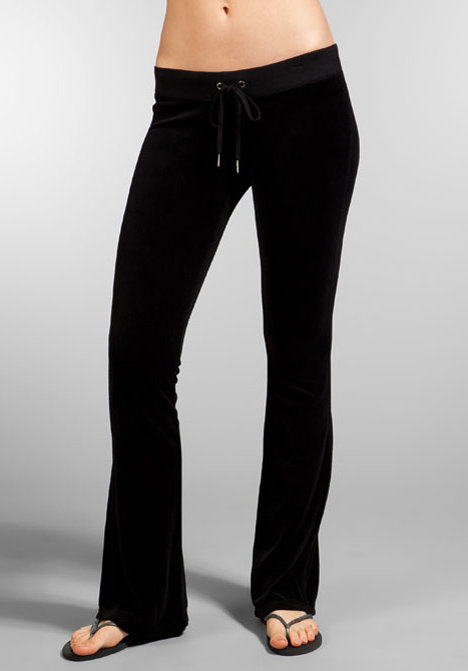 Juicy Couture Velour Skinny Flare Leg Pant