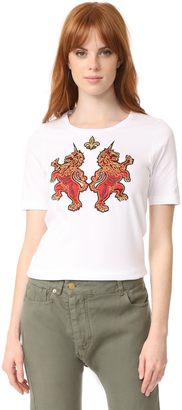 DSQUARED2 Embroidered T-Shirt $540 thestylecure.com