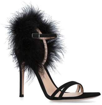 Gianvito Rossi Feather Thais Sandals 105