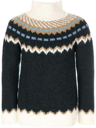 Valentino patterned turtleneck jumper