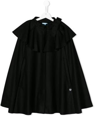 Lanvin Enfant TEEN flared cape coat