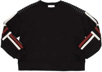 Les Coyotes De Paris Cotton Sweatshirt W/ Stripes