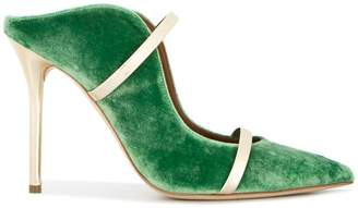 Malone Souliers By Roy Luwolt velvet cut-out-ankle pumps