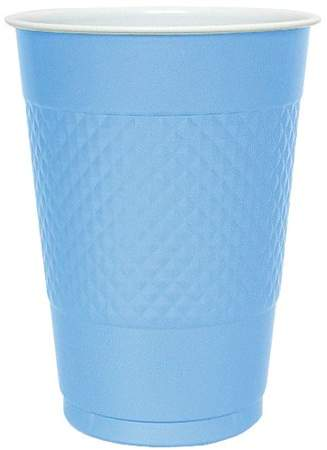 Hannah K Hanna K Plastic Cups, , 16 Oz, Light Blue, 50 Ct