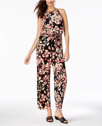 Thalia Sodi Printed Chain-Neck Jumpsuit, Created for Macy's