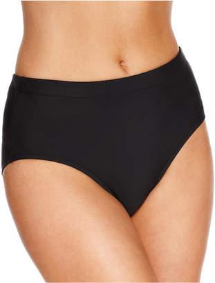 Swim Solutions High-Waist Bikini Bottoms, Created for Macy's Women's Swimsuit