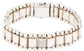 Lagos Diamond Caviar Spark Link Bracelet