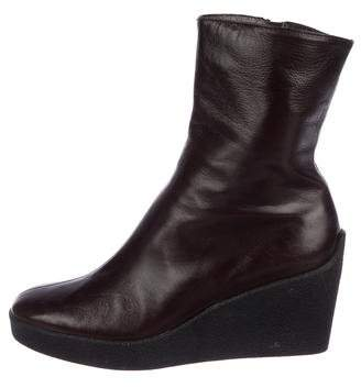 Robert Clergerie Leather Wedge Boots