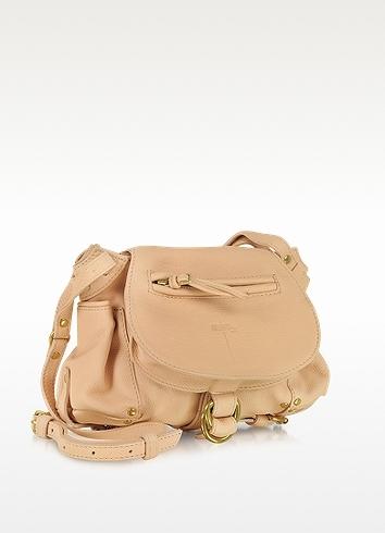 Jerome Dreyfuss Twee Mini Nude Leather Shoulder Bag