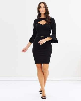 Lipsy LS Open Neck Belted Body-Con Dress