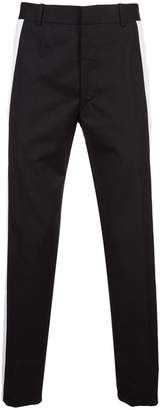 Alexander McQueen striped sides slim trousers
