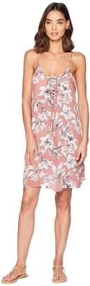 Roxy Softly Love Printed Dress Cover-Up Women's Swimwear