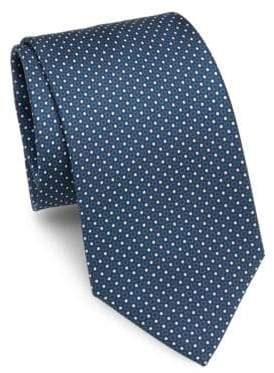 Brioni Mini Dot Silk Tie