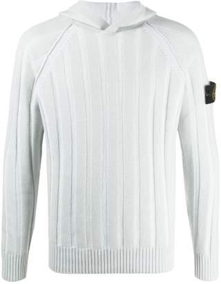 Stone Island flat rib-knit hoodie